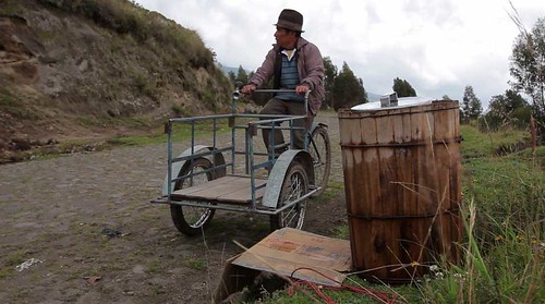 Video Still: Gregorio and his delivery bicycle.