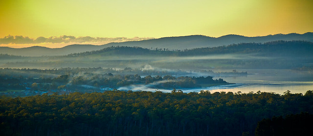 Tamar Valley  at dusk