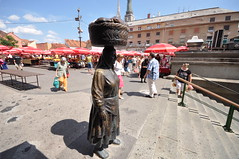 """""""Kumica"""" – A peasant woman with woven basket on her head - Dolac Market"""