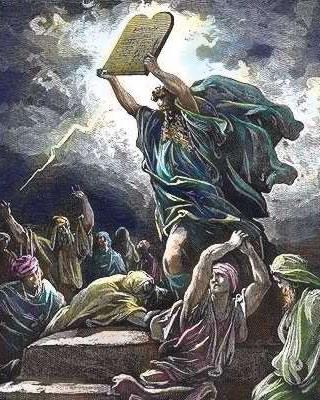 Moisés apresenta as tábuas dos 10 Mandamentos