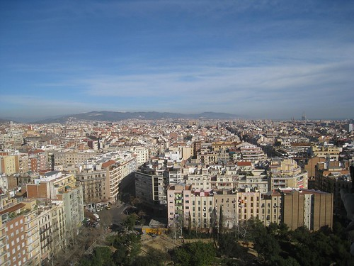 View of Barcelona from cathedral spire