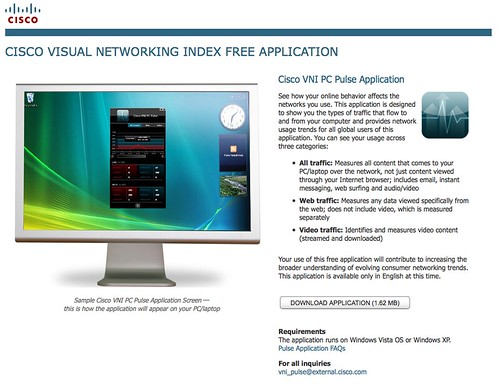 Cisco Visual Networking Index Free Application