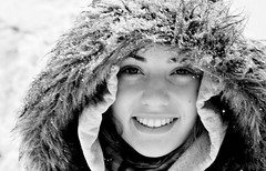 Stranger #19 - Jessa (Universal Stopping Point) Tags: winter snow face furry fuzzy lexington kentucky stranger icestorm hood jessa 100strangers croppedblackandwhitepresetadditionalexposureandclarityalterations notsurewhyitcameoutfuzzy thatlensseriouslylacksclarity