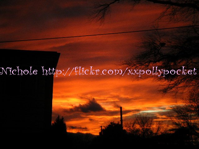 a blood red sunset