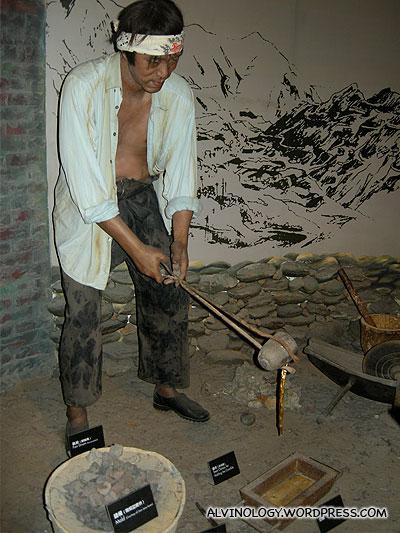 Wax man miner