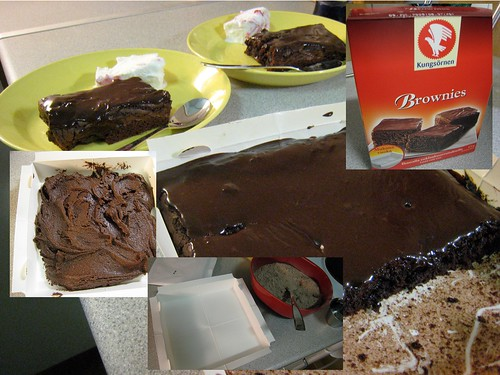 Self-made brownies