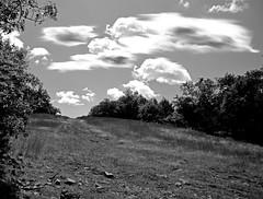 uphill... (dart1007) Tags: blackandwhite bw monochrome clouds blackwhite gimp bn retro grayscale bluehills sunnyday cubism blancetnoir whitershadeofpale shadesofgray golddragon canon400d platinumphoto ysplix goldstaraward dart1007