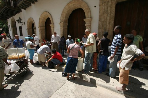 Lunchtime for the working people in downtown Cartagena.