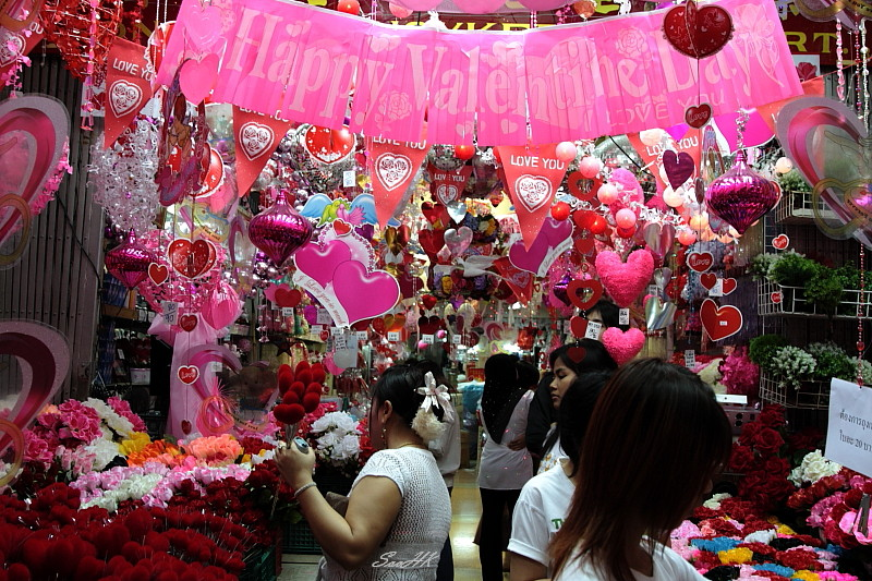 Happy Valentine Day @ China Town, Bangkok, Thailand