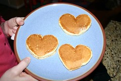 Heart Shaped Pancaked for Valentine's