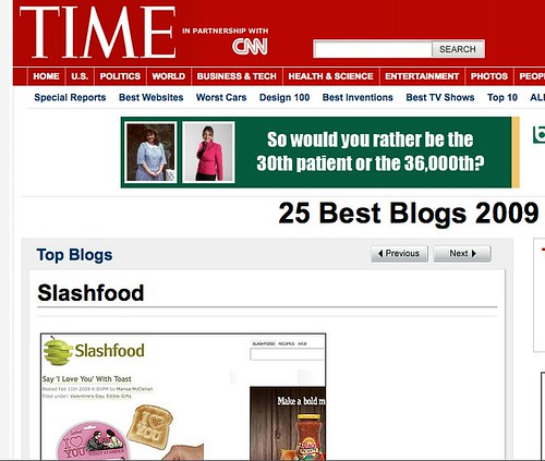 Slashfood is a Top Blog!