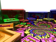 Doyle cubes (fdecomite) Tags: spiral cube math letter doyle povray