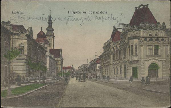 Pohľadnica Prešov - Eperjes, okolo roku 1910