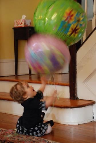 Loving Her Balloons