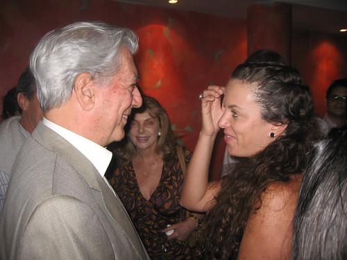 Mario Vargas Llosa con Claudia Llosa