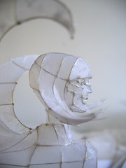 Paper and Wire Sculpture: sphinx to go on show at Papershapers, Giant Robot, Scion Installation L.A.