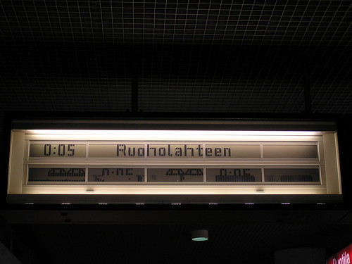 Helsingin metron infotaulu hieman sekaisin...