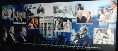 Panoul cu Billy Graham şi preşedinţii SUA cărora le-a fost consilier