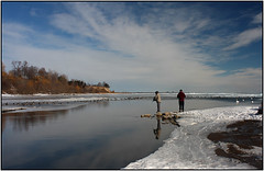 Winter Fishing (Trostan) Tags: winter snow ontario canada cold port paul frozen 2009 mcalister trostan ryerse