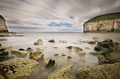The North Landing at Flamborough (Corica) Tags: longexposure greatbritain england canon landscape britain yorkshire sigma wideangle flamborough northlanding corica nd1000 400d