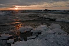 Icy Sunrise on Lake Superior (tomkellyphoto) Tags: pink winter sky usa sun lake snow storm ice minnesota horizontal clouds sunrise reflections landscape grey spring scenic mn lakesuperior lutsen poplarriver wintericesnowlakelakesuperiorpoplarriverlutsenminnesotagreyicybreakupgreatlakessunrise