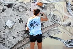 IMGP2203 (geldmond) Tags: street paris color art graffiti mural chica arte urbano hip hop calavera cigarrillo callejero graffitero graffitera