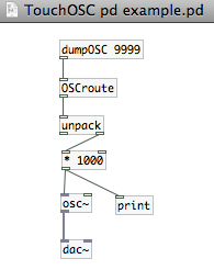 OSC pd Example