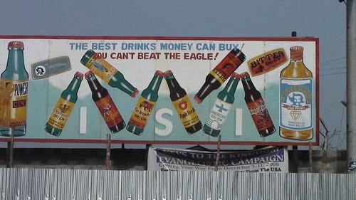 Liberia anuncio bebidas