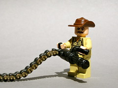 Blain from Predator (Dunechaser) Tags: lego minifig custom predator minigun blain jesseventura brickarms