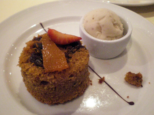 Warm Fig, Date, and Cinnamon Cake with Rum Raisin Ice Cream