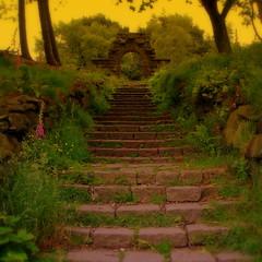 follow me  to the secret garden... (perseverando) Tags: overgrown garden ruins secret steps rivington romantic leverpark platinumphoto infinestyle theunforgettablepictures perseverando thedantecircle visionqualitygroup thearcadiasociety