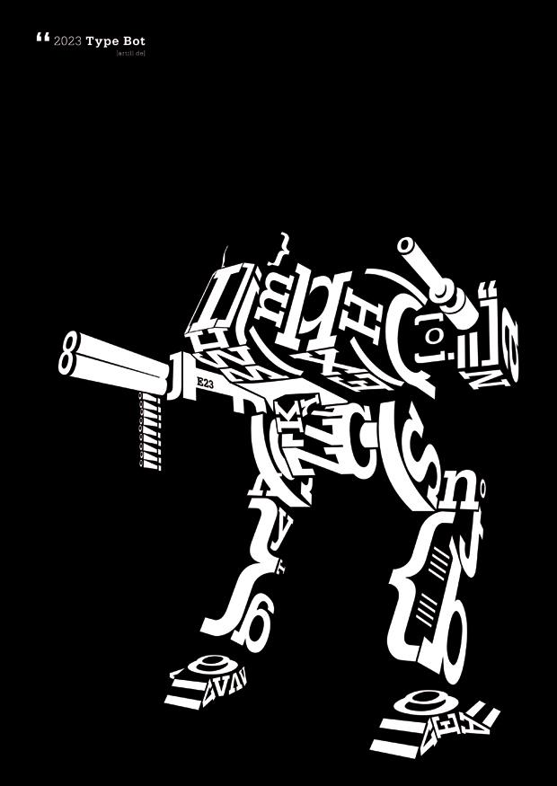 type bot - poster schwarz