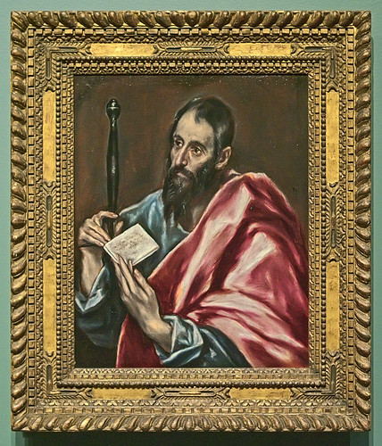 "Oil painting, ""St. Paul"", by El Greco (Domenikos Theotokopoulos), 1598-1600, at the Saint Louis Art Museum, in Saint Louis, Missouri, USA"