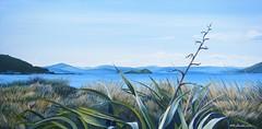 On a Winters Day (tracy macdonald) Tags: newzealand art painting artist acrylic wellington flax somesisland matiuisland tracymacdonald