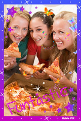 Teenage Girls Eating Pizza (HulalaGirls) Tags: girls friends food color home kitchen smiling vertical cheese lunch happy togetherness friendship eating teenagers pizza indoors teen slice snack teenager hungry hispanic anticipation diet lookingdown mates enjoying pepperoni bestfriends unhealthy teenage caucasian pizzabox latinamerican adolescence 16yearold threepeople ipix colorimage hulala 14yearold colourimage hulalagirls hulalaipix