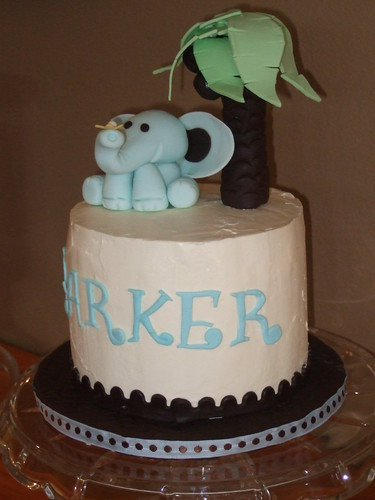 Baby Shower Cake - Elephant 008