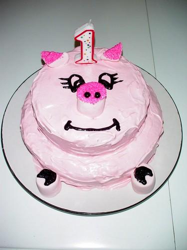 Pink Piggy Cake