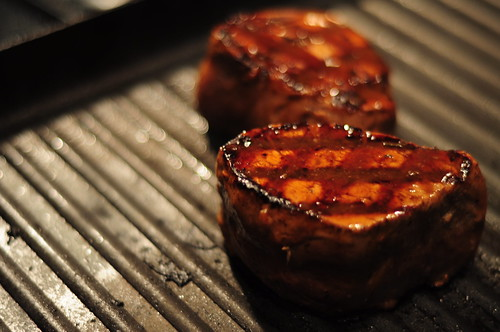 A perfectly seared, marinated piece of Filet Mignon, sustainably raised in Sonoma.
