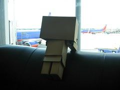 Where's our plane? (willycoolpics.) Tags: port airport action air figure picnik danbo revoltech wherestheplane danboard