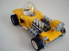 "Ed ""Big Daddy"" Roth's Mysterion! (Lino M) Tags: roth daddy ed big lego chrome dome build 1962 challenge lino lugnuts dragster 22nd spaceage edroth mysterion bubbletop candyyellow showrod whosyourbigdaddy"