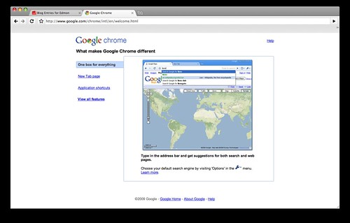 Chrome 3 OS X