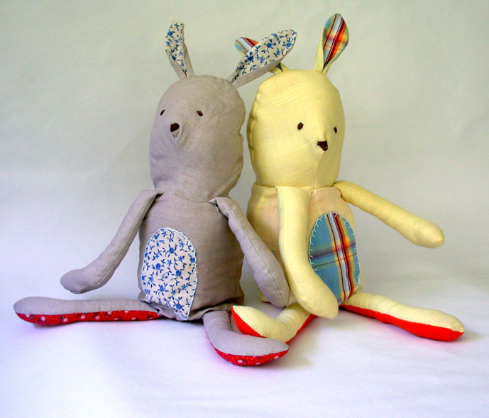 Bunny and Fox Flip Doll - Bunnies fronts