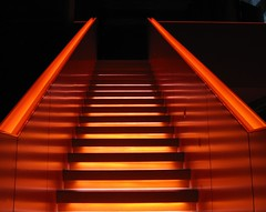 zollverein - leap in the dark (fp) (c-h-l) Tags: light orange stairs germany deutschland site essen industrial unescoworldheritagesite unesco treppe explore nrw frontpage industrie 2009 zollverein zeche zechezollverein weltkulturerbe routeindustriekultur europeanrouteofindustrialheritage zollvereincoalmineindustrialcomplex unesoweltkulturerbe