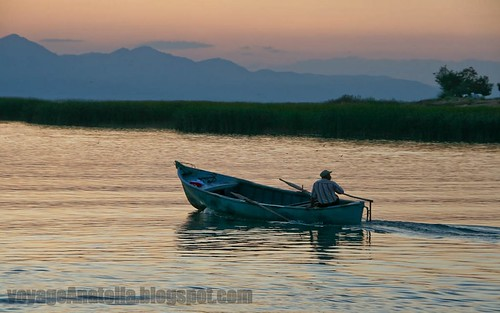 Fisherman at Lake Beysehir by voyageAnatolia.blogspot.com