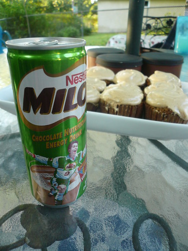 Milo and apple cupcakes
