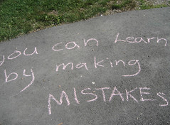 'You can learn by making mistakes'