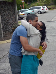 AD Kiss I (Reinalasol) Tags: people silly fun person funny flickr candid human april panama unposed candids 2009 humans funstuff april2009 panama2009 reinalasol