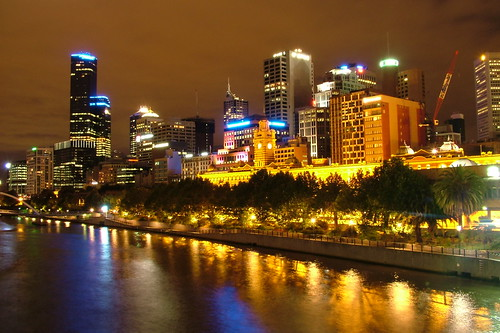 "Reflections of Melbourne's skyline at night • <a style=""font-size:0.8em;"" href=""http://www.flickr.com/photos/8110030@N05/3915410570/"" target=""_blank"">View on Flickr</a>"