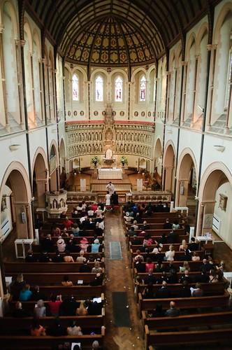 The interior of St Aloysius