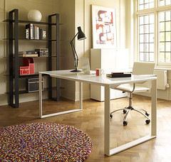 Arbete Desk, Vivo Chair & Pinocchio Rug (Heal's - heals.co.uk) Tags: autumn winter lamp office desk bookshelf anglepoise collection heals